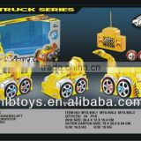 2013 New item,4CH RC construction car,Cartoon rc truck toy with lights and music