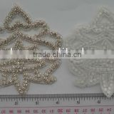APPLIQUE PATCH IRON/SEW ON,GLASS BEADS RHINESTONE PATCH FOR WEDDINGPATCH FOR SEW ON CLOTHING OR CLOTHING NOTION ITEMS DECORATION