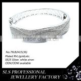 2015 new style mens bracelets 925 silver white gold bracelets tiara bracelets fashion jewelry SLS