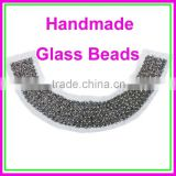 Factory Wholesale Customize Handmade Glass Beaded Metallic Color False Collar neck designs for garments accessories                                                                         Quality Choice