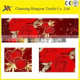 Wedding designs twill Microfiber peach skin printed home textile fabric for wedding bedding sets