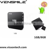 Vensmile rk3229 V88 Quad Core Android 5.1 Smart TV Box Fully Loaded Kodi IPTV Media Player 1G/8G install free play store app