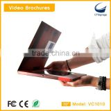 10.1 inch lcd video brochre card new arrival for advertise player ,lcd video module for education