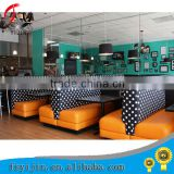 commercial restaurant furniture leather covered wood basement restaurant booth sofa