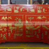 Chinese red wedding painted cabinet Lwc483