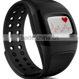 Bluetooth sport pedometer silicone wristband with heart rate monitor