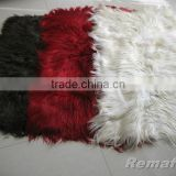 Straight and Long Hair Goat Fur Plate for Garment, Kidassian fur hair length 15 cm up
