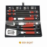 16 pcs BBQ set with Leather case
