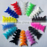Cute silicone headset wire winder in fishbone shape