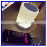 Low Price Factory Outlets Intelligent Bluetooth Touch Sensor Led Table Speaker Lamp with Mini Speaker