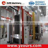 electrostatic powder coating booth type iron, steel, aluminum substrate powder coating line