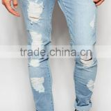 2016 Customized wholesale fashionable ripped mens jeans                                                                         Quality Choice