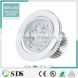 LED Ceiling light round silver high power 7w led ceiling down light led led ceiling down light led