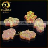 hot sell Australia opal stone price hand hamsa yellow synthetic opal stones