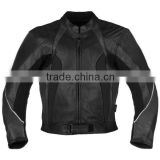 100% Genuine Cowhide Leather MC Racing Jacket with CE Protectors & High Quality Stretch Fabric
