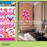 Removable wall decal sticker,3d pvc wall sticker,bedroom wall sticker