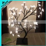 Decorative new led simulation beautiful potted landscape light up tree