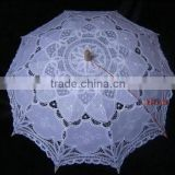 2016 hot wholesale Battenburg lace umbrella Ivory white bridal wedding umbrella lace for wedding party