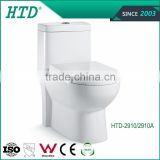 HTD-2910 Dual flush fitting WC bathroom set western sanitary ware water closet Siphonic One-piece Toilet