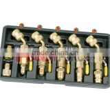 Shut-Off Ball Valve Fitting Adapter Set, Air Condition Service Tools of Auto Repair Tools