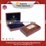 Rectangle Metal Coins Box Holder /Classical Wood Coins Saving Box Wholesale