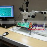Trinocular Video Microscope Single Bar Boom Stand/Circuit board video inspection microscope SX4TS