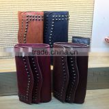 Hot Double row rivets vintage purse , leather wallet ,women purse alibaba china direct factory