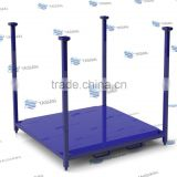 Removable post steel pallet with steel plate