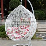Eileen Outdoor Comfortable Garden Furniture Long Lifetime White Wicker Rattan Hanging Swing Chair Hammock                                                                         Quality Choice