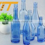 Hot sale light blue glass bottle 500ml glass bottle manufacturer cobalt blue glass bottles