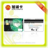 Laser Engraved Contact PVC Magnetic Smart Card With Chip RFID Credit Card Reader
