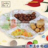 Plastic/acrylic 4 Section Divided Serving Tray / fruit tray Compartment Party New for home used