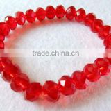 RED Crystal glass Bracelet with crystal beads jewelry clothes(R-1341