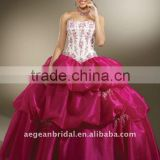 Top design sweetheart neckline organza ball gown quinceanera dress with beaded bodice and pick-up skirt XZ-pd1265