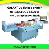 Galaxy ud-1312UFC UV flatbed printer with white color for Wood ,Glass,Aluminum