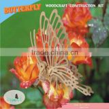 Wooden Butterfly to Assemble New 3D Puzzle Sculpture