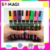 8 Pack Fluorescent colors Anti-wipe Highlighter Pen with Reversible 6mm Tip Non-toxic And Dustless