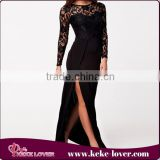 new arrival! 2015 sexy mature girls casual dress vetisdos bodycon women clubwear sexy dresses women black chiffon long dress