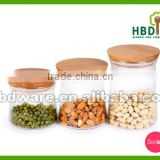 Glass Storage Container/Jar/Canister with bamboo lid