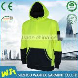 wholesale sport wear fleece shirt fashional unisex fleece shirt hot sale safety fluo color fleece shirt clothing