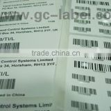 Custom brand name sticker vinly material barcode self-adhesive labels and stickers