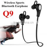 Q9 Wireless Bluetooth 4.1 Stereo Earphone Sport Running Headphone Studio Music Headset with Microphone for smart phone Rated