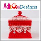 wholesale red ceramic indian sweet boxes for weddings