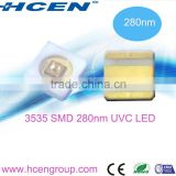 Hot sales high power 3535 SMD germicidal deep uv led 280nm with RoHS compliant