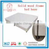 Solid wood frame bed base