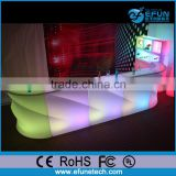 2016 newly popular sale bar furniture wave grain led night club bar led display counter