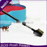 Plastic bristle double ended eyebrow brush