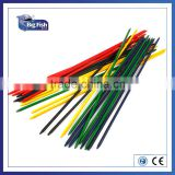 mikado wooden games toys giant 25pcs multi coloured pick up sticks (81cm) With Eco-Friendly Paint