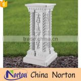 hand carved flower modern stone pedestals and plinths NTMF-PE012Y