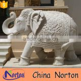 indian traditional life size marble elephant statue NTBM-A009X